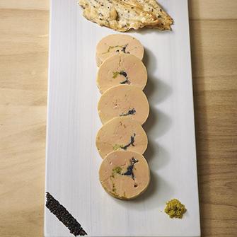 rougi ballotine de foie gras s same et pistache. Black Bedroom Furniture Sets. Home Design Ideas